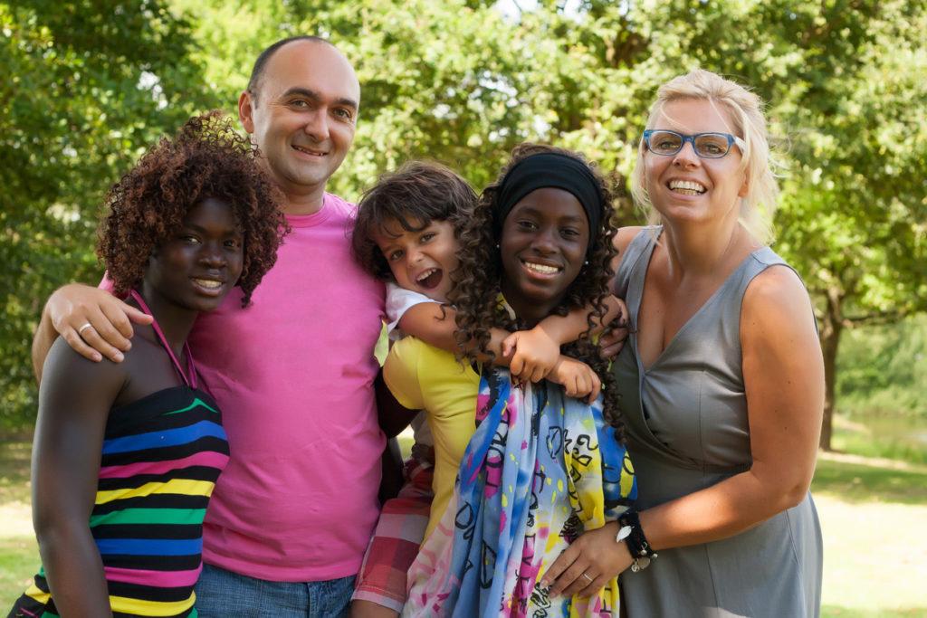 nurturing foster family