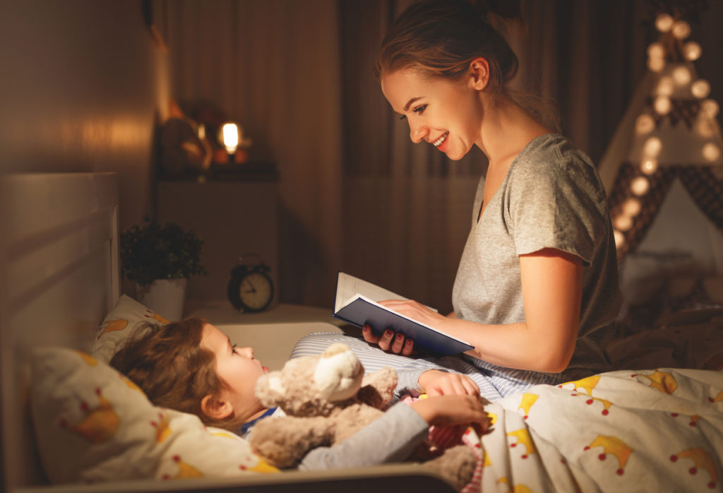 bedtimes for foster children reading a book